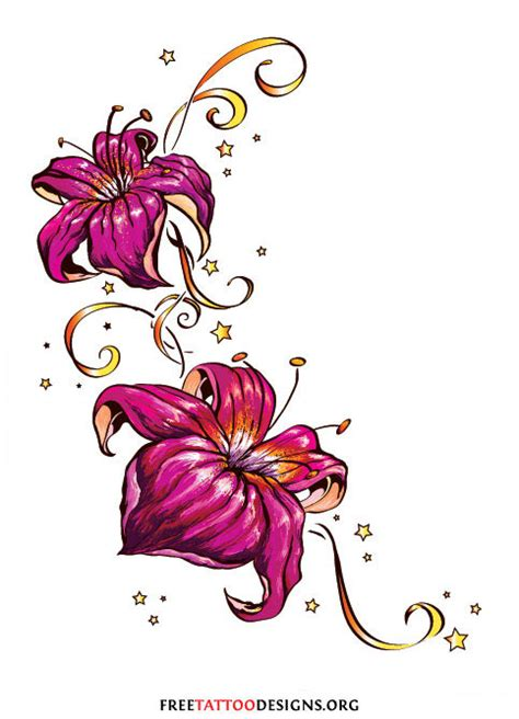 flower and star tattoo designs flower images designs