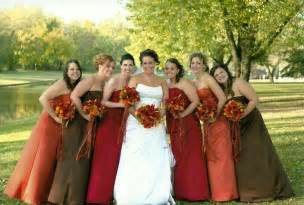 fall color bridesmaid dresses bridesmaid dresses in fall colors i that they are