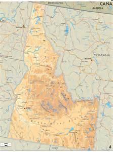 usa map idaho state physical map of idaho ezilon maps