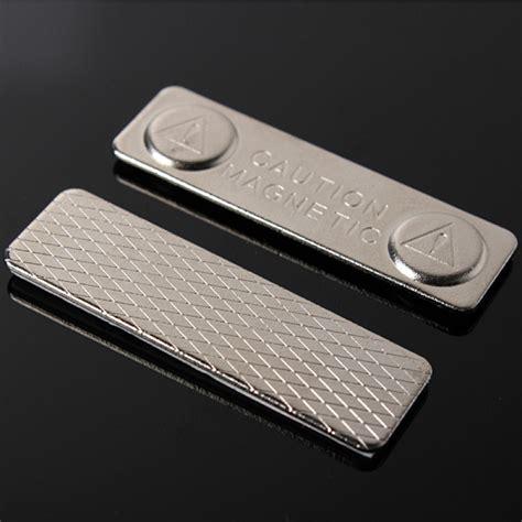 Id Card Holder Magnet Name Tag Holder Magnet Tempat Id Card Magnet buy magnetic name tag badge fastener id holder metal card strong magnet bazaargadgets