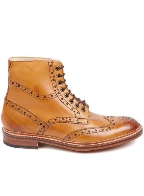 leather sole boots oliver sweeney wren leather sole brogue boot made in italy