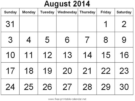 august 2014 calendar template august 2014 has 5 fridays 5 saturdays and 5 sundays it