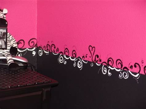 black and pink room ideas beautiful pink decoration