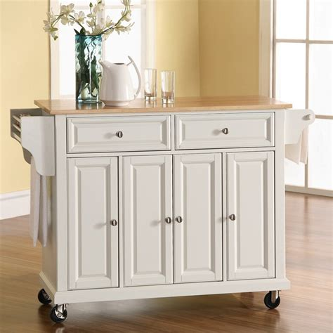 crosley wood top kitchen cart island kitchen