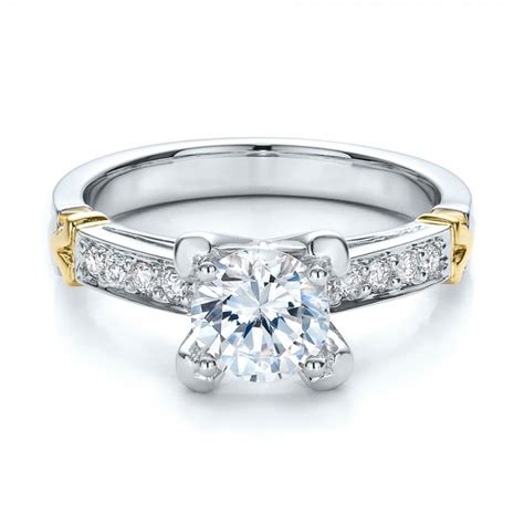 two tone gold and engagement ring vanna k