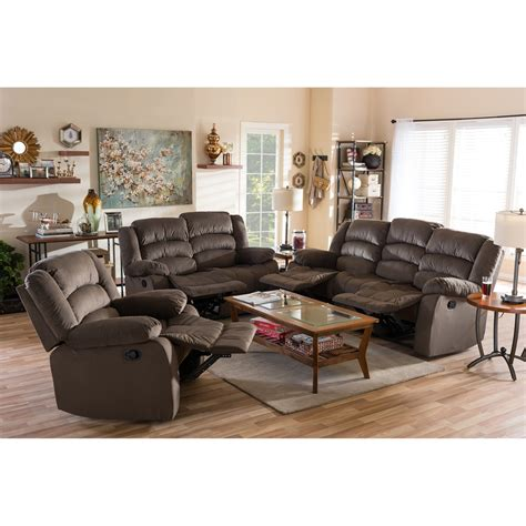 microsuede sofa and loveseat baxton studio hollace modern and contemporary taupe