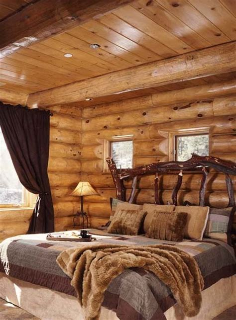 Log Home Bedroom Decorating Ideas 65 Cozy Rustic Bedroom Design Ideas Digsdigs