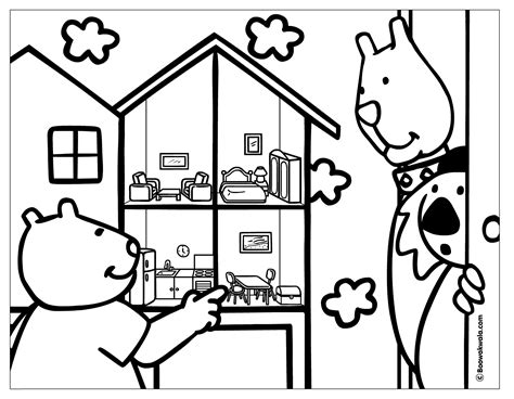 coloring pages of a doll house a doll house coloring page
