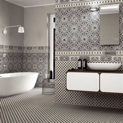 victorian wall tiles bathroom orly black and white patterned tiles direct tile