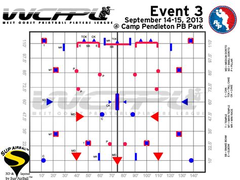 field layout initialized event 2013 wcppl event 3 field layout released social paintball