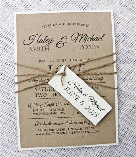 rustic wedding invitation diy printable modern wedding