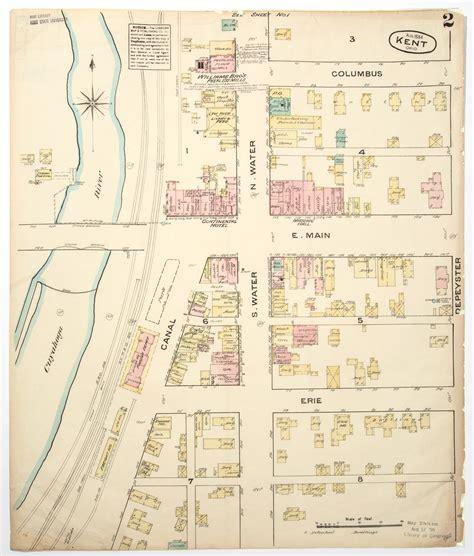 kent cus map 1988 sanborn fire insurance map 1884