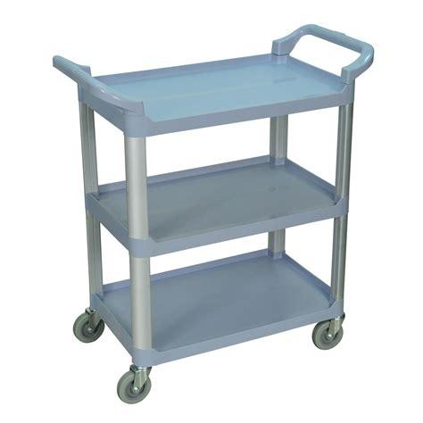 Kitchen Serving Cart by Luxor Gray 3 Shelf Serving Cart Kitchen Supply