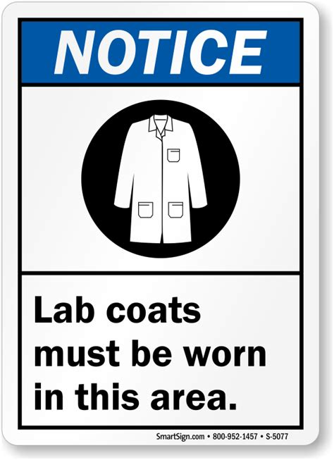 Buy Bathroom Products Online Lab Coat Signs Mysafetysign Com