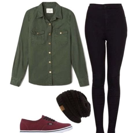 Wakai Maroon Green Army black and a green army shirt with maroon vans fashion the o