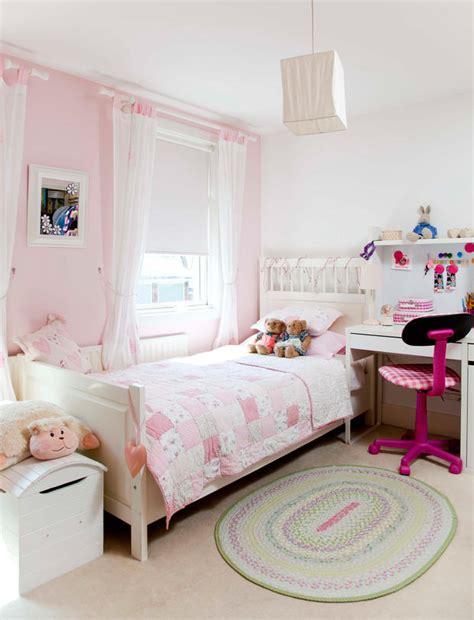 rosa schlafzimmer ideen für kleines mädchen wandfarbe zu braunem bett