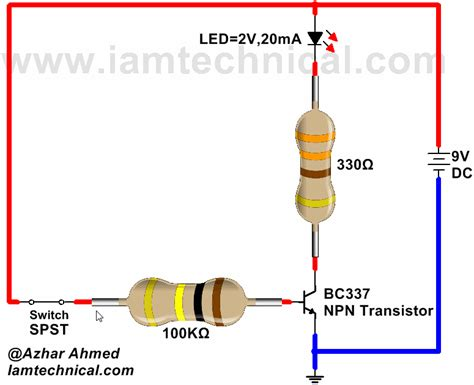 transistor used as a switch npn transistor bc337 as a switch iamtechnical