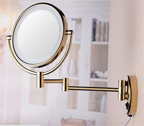 wall mounted lighted magnifying bathroom mirror new 8 inch bathroom 360 degree swivel wall mounted