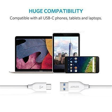Anker Powerline 3ft Cable Usb C To Usb 3 0 Gray Pouch Termurah anker powerline usb c to usb 3 0 cable 3ft white 2 pcs free shipping dealextreme
