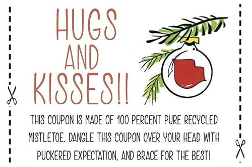 coupon for hugs and kisses