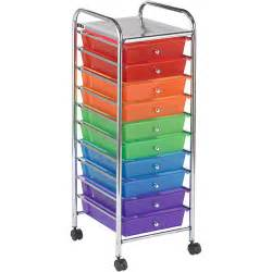 ecr4kids 10 drawer mobile organizer multi colored