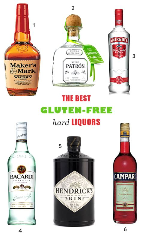 alcoholic drinks brands the best gluten free liquor and alcohol brands homemade