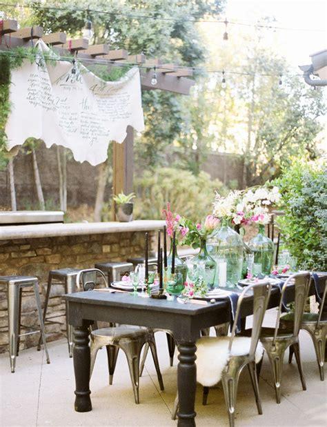 backyard vow renewal stylish backyard vow renewal tina brian green wedding