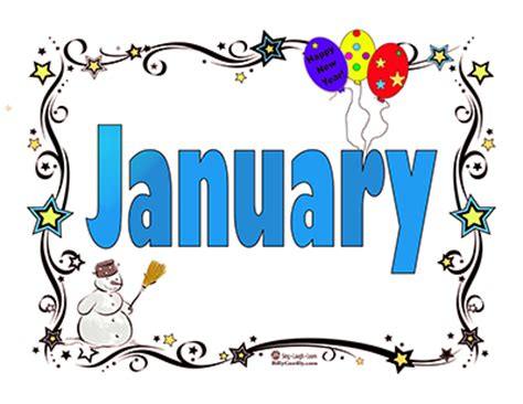 new year in january months of the year clipart best