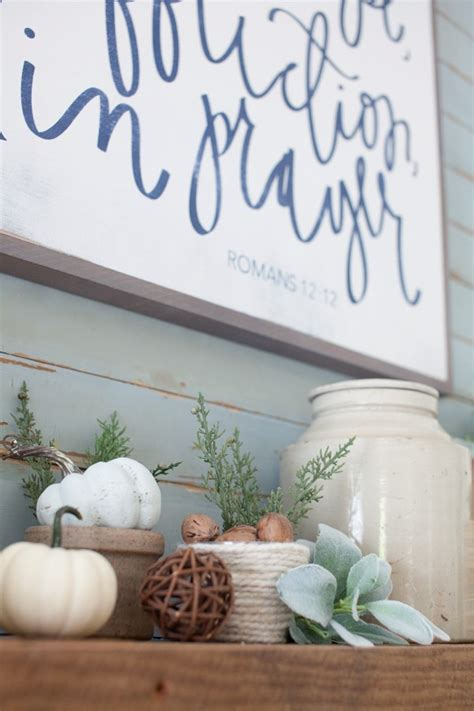 house of belonging fall mantel decorating the lettered cottage