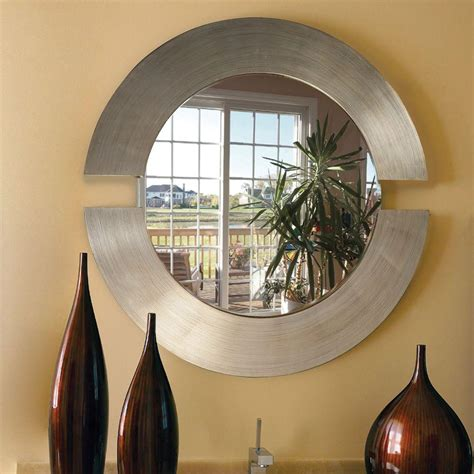 Design Ideas For Howard Elliott Mirrors Howard Elliott 38 In X 38 In Orbit Silver Leaf Mirror 2180 The Home Depot