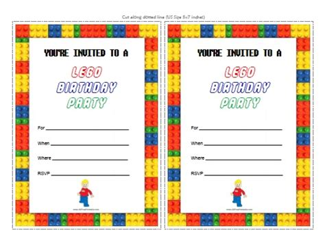 boy lego birthday card template word lego birthday invitations free printable