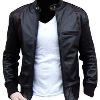 Jaket Parka Pria Line Black leather jacket black fabric hooded leathe on luulla