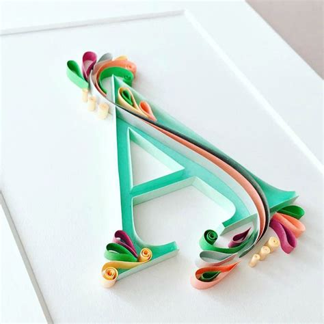 Paper Craft Quilling - 25 best ideas about quilling letters on paper