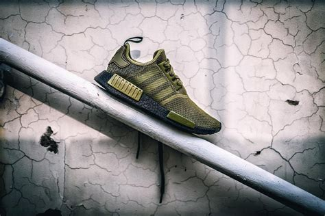 Adidas Nmd Tv Fuzz adidas release new mesh olive colorway with black boost for the nmd r1 breal tv