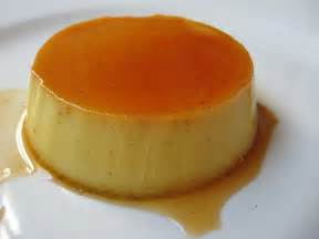 Creme caramel with cinnamon and cranberries
