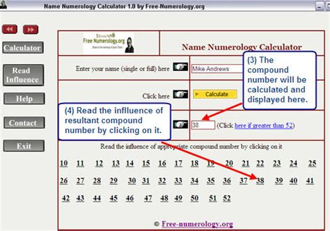 name numerology free numerology names calculator for