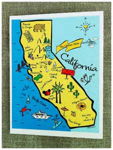 www california map california state map color note card by gooseberrydesigns