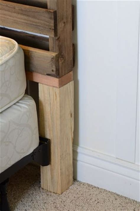 diy headboard attached to bed frame how to attach diy headboard to frame i knew there was a