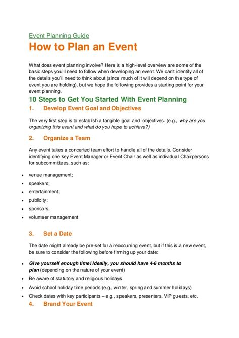 for event planning event planning guide