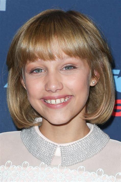 Grace Hairstyle by Grace Vanderwaal Light Brown Blunt Cut Bob