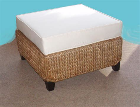 sea grass ottoman new seagrass 26 square ottoman with 5 high flat