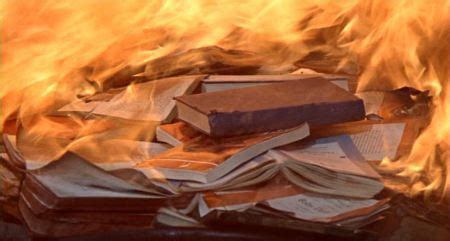 burned in books 187 fahrenheit 451 burning books the teeming brain