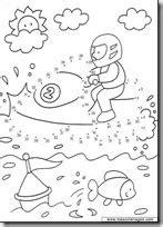 Dibujos infantiles para unir puntos | Colorear dibujos
