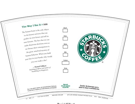 starbucks gift card template 6 best images of printable starbucks coffee cups