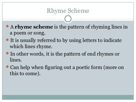 pattern me definition cw poetry rhyme