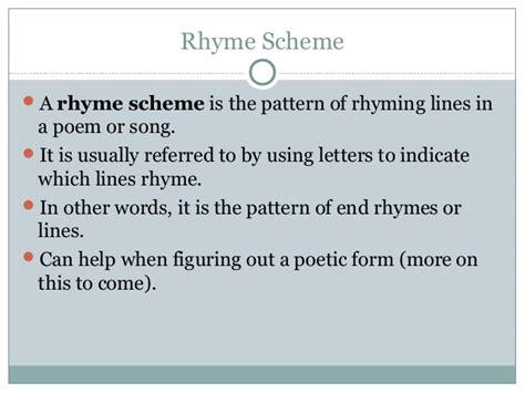pattern of rhyme exles cw poetry rhyme