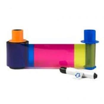 Ribbon Color Dtc4500e fargo 45210 dtc4500 ymckok color ribbon with 2 resin