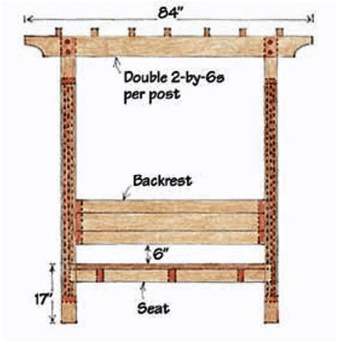 free trellis plans diy arbor bench design plans free