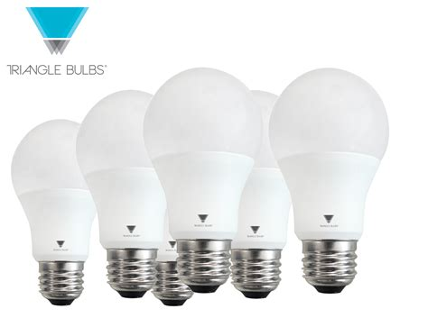 Led 60 Watt Equivalent Light Bulbs Triangle Bulbs A19 Led 60 Watt Equivalent Daylight 5000k Light Bulb 6 Pack 11 99 2 Per Bulb