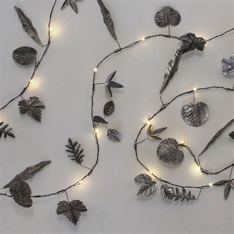 led string lights indoor silver leaves garland led string lights indoor outdoor